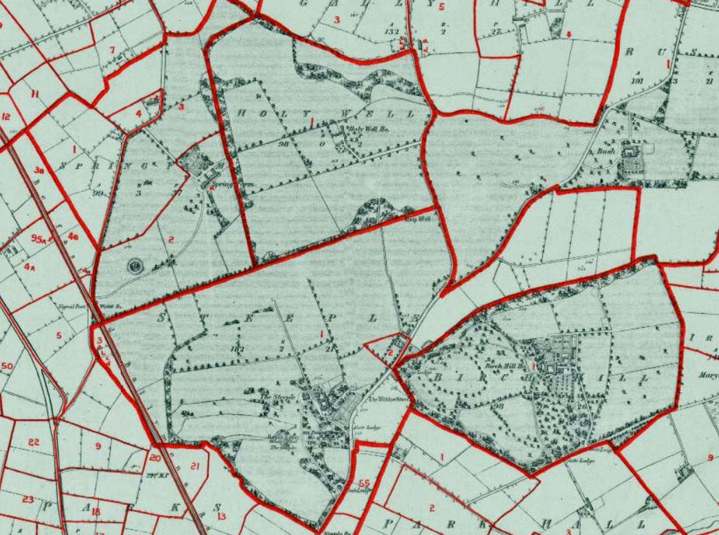 Steeple and adjacent townlands