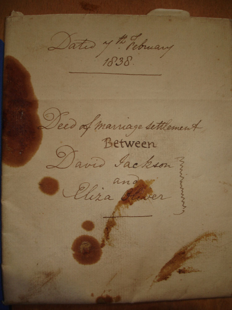 1838 Marriage agreement